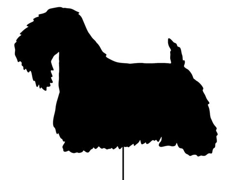Sealyham Terrier Garden Stake or Wall Hanging (Style 2)