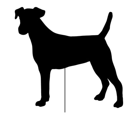 Smooth Fox Terrier Garden Stake or Wall Hanging