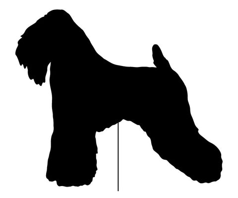 Soft Coated Wheaten Terrier Garden Stake or Wall Hanging