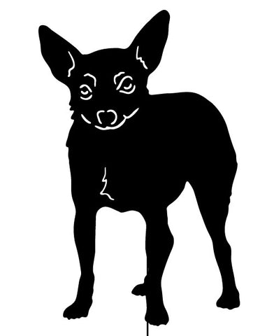 Toy Fox Terrier Garden Stake or Wall Hanging