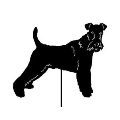 Wire Fox Terrier Garden Stake