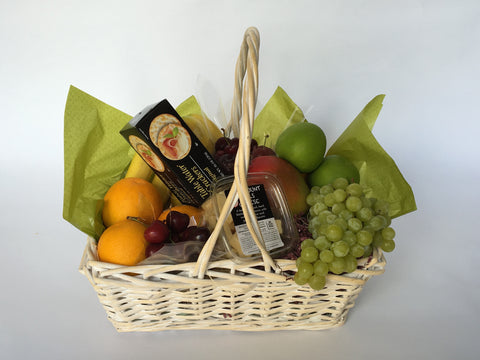 Corporate gifts. Basket of fruits. Coral Gables florist