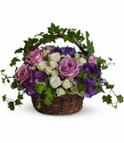 Basket of flowers for delivery. Florist in Coral Gables.