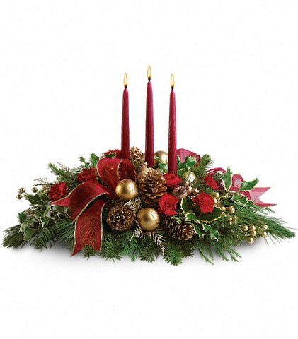 Christmas flowers, centerpieces and garlands. Florist in Coral Gables.