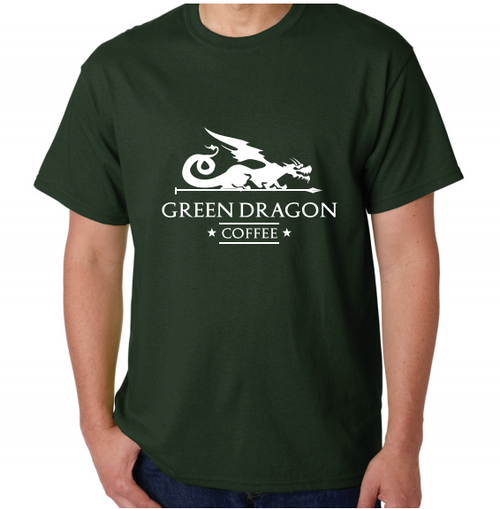 Short Sleeve Green Dragon T-Shirt - Green Dragon Coffee