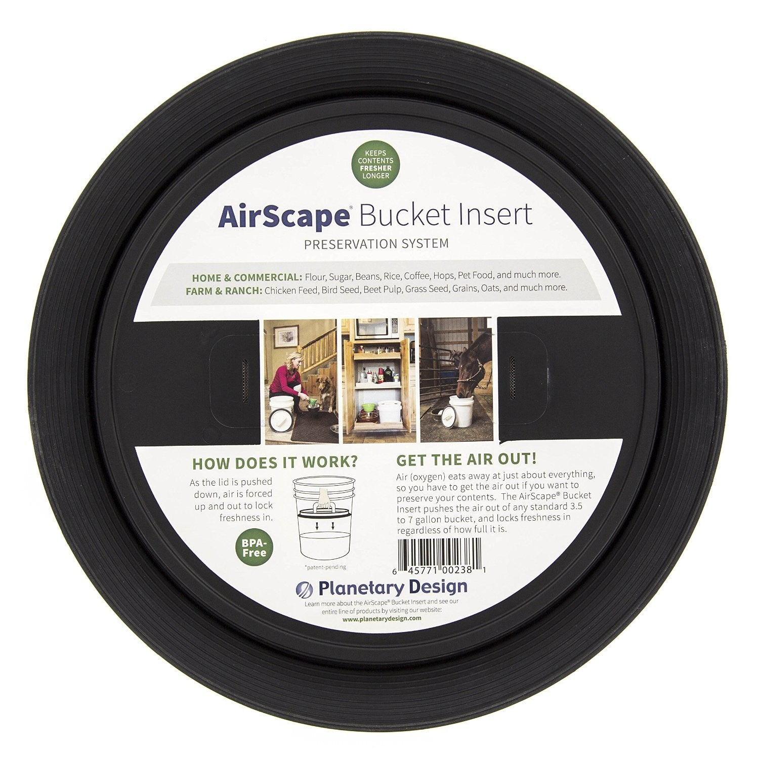 AirScape Bucket Preservation Insert - Green Dragon Coffee  - 4