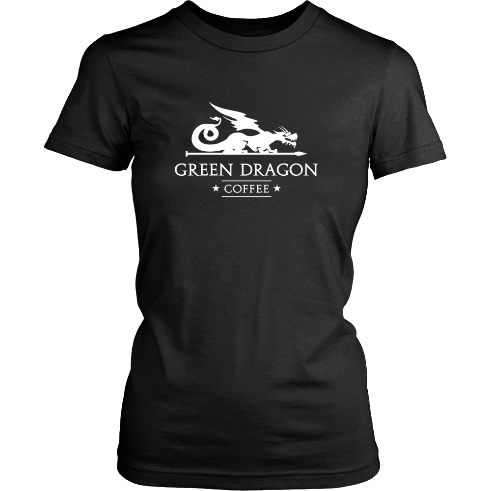 Womens T-Shirt - Green Dragon Coffee  - 1