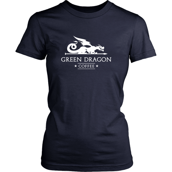 Womens T-Shirt - Green Dragon Coffee  - 9