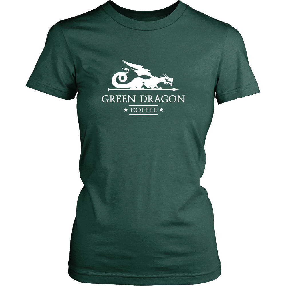Womens T-Shirt - Green Dragon Coffee  - 8