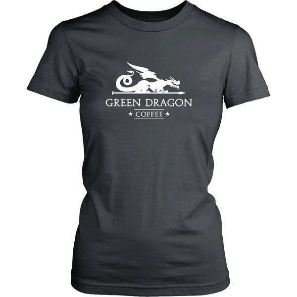 Womens T-Shirt - Green Dragon Coffee  - 5
