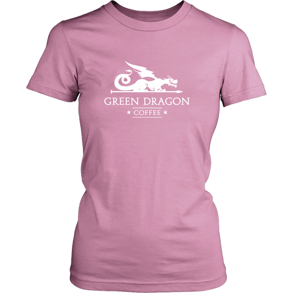 Womens T-Shirt - Green Dragon Coffee  - 3