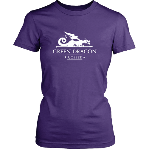 Womens T-Shirt - Green Dragon Coffee  - 2