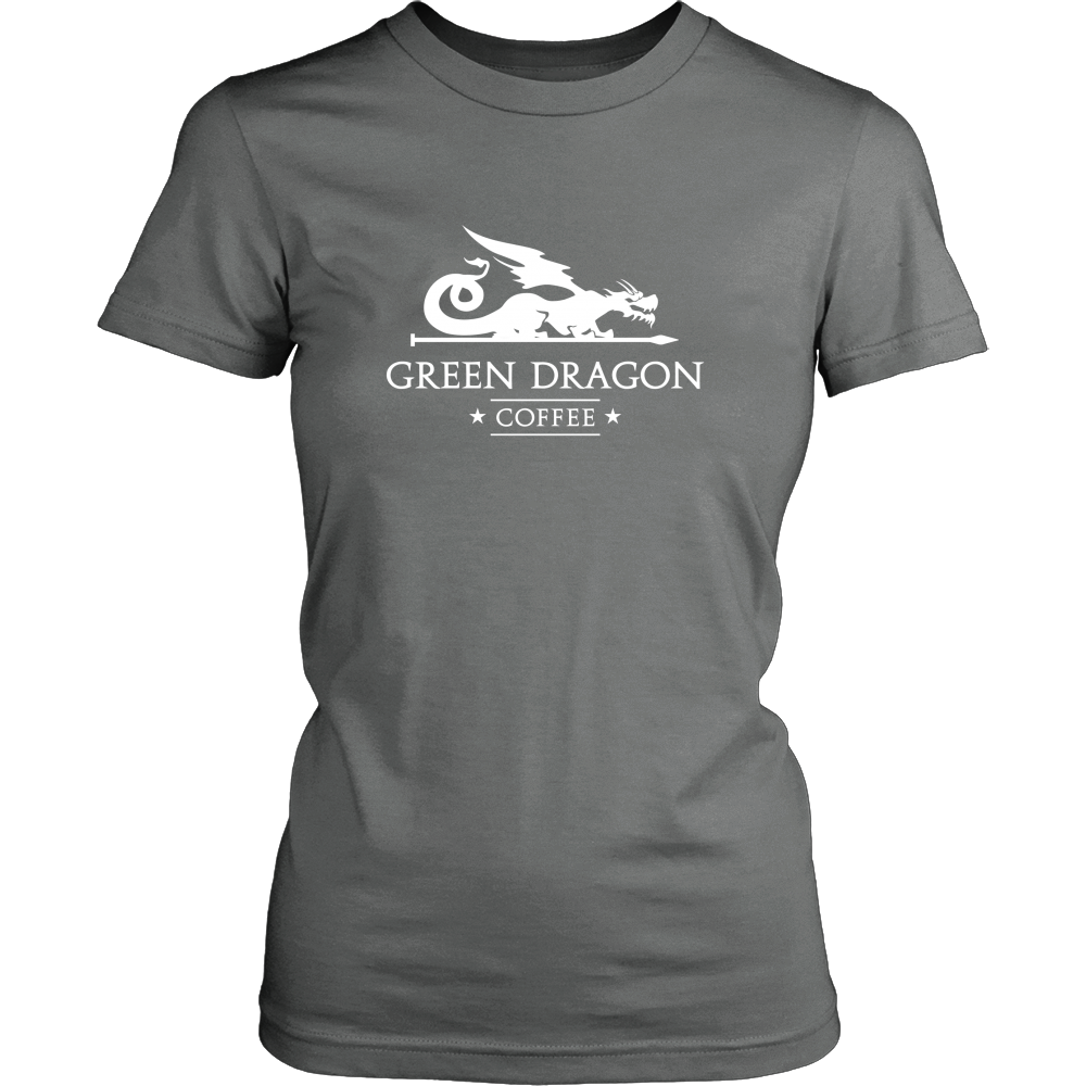 Womens T-Shirt - Green Dragon Coffee  - 6