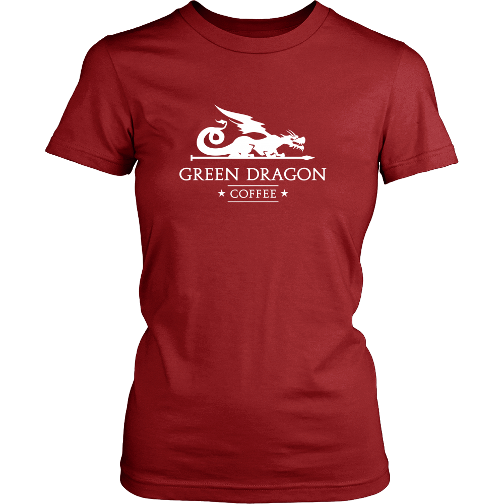 Womens T-Shirt - Green Dragon Coffee  - 7