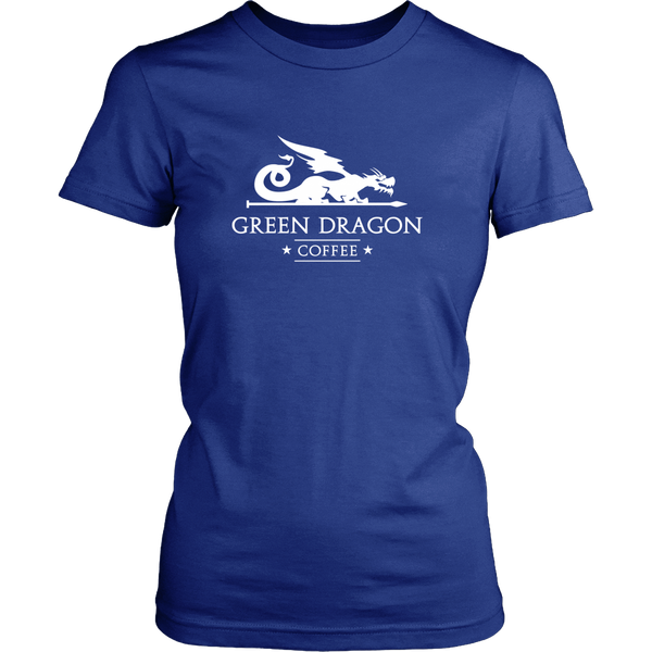 Womens T-Shirt - Green Dragon Coffee  - 4