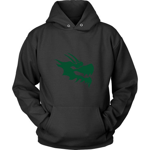 Dragon Head Hoodie Sweatshirt - Green Dragon Coffee  - 1