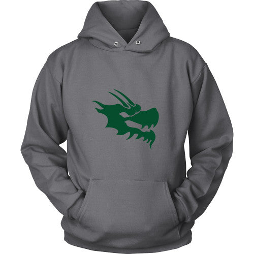Dragon Head Hoodie Sweatshirt - Green Dragon Coffee  - 2