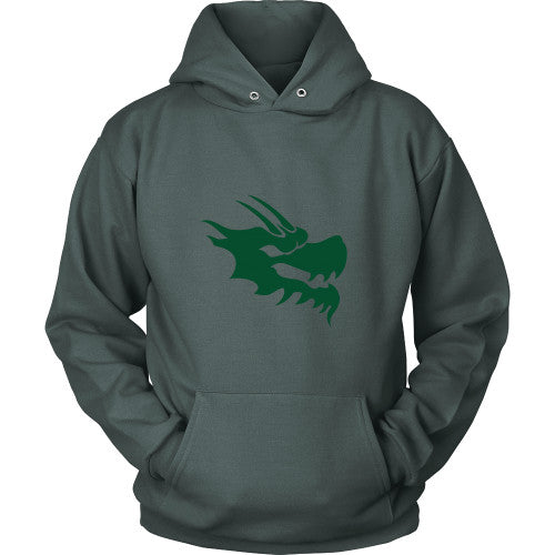 Dragon Head Hoodie Sweatshirt - Green Dragon Coffee  - 3