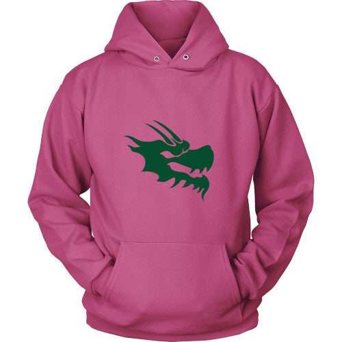 Dragon Head Hoodie Sweatshirt - Green Dragon Coffee  - 4