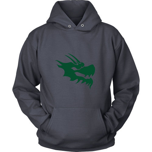 Dragon Head Hoodie Sweatshirt - Green Dragon Coffee  - 5