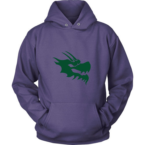 Dragon Head Hoodie Sweatshirt - Green Dragon Coffee  - 6