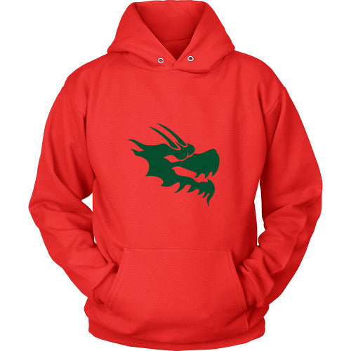 Dragon Head Hoodie Sweatshirt - Green Dragon Coffee  - 7