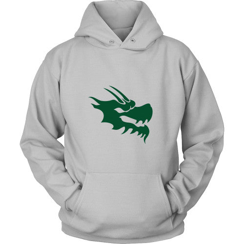 Dragon Head Hoodie Sweatshirt - Green Dragon Coffee  - 8