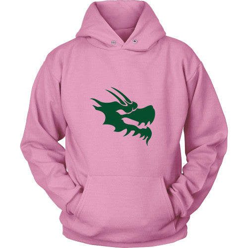 Dragon Head Hoodie Sweatshirt - Green Dragon Coffee  - 9