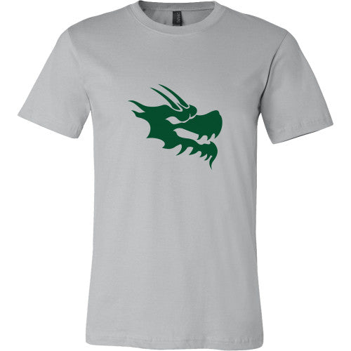 Mens Dragon Head Tshirt - Green Dragon Coffee  - 1