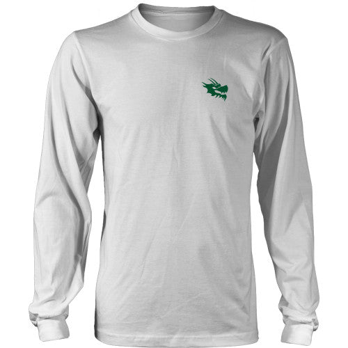 Mens Long Sleeve Dragon Shirt - Green Dragon Coffee  - 1