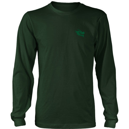 Mens Long Sleeve Dragon Shirt - Green Dragon Coffee  - 11
