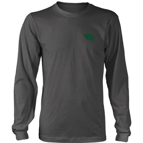 Mens Long Sleeve Dragon Shirt - Green Dragon Coffee  - 13