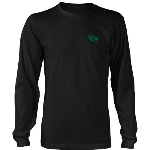 Mens Long Sleeve Dragon Shirt - Green Dragon Coffee  - 15