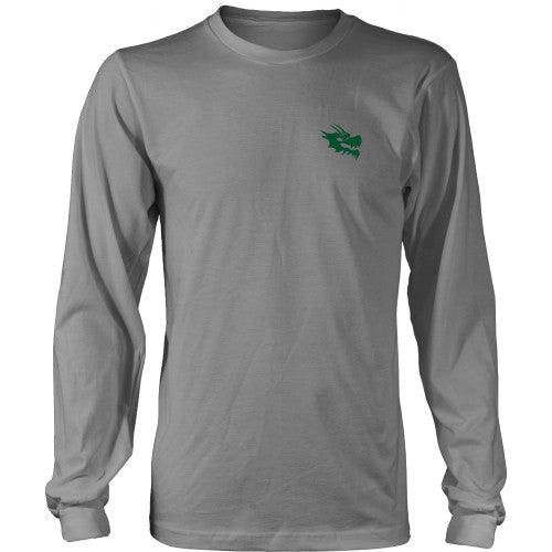 Mens Long Sleeve Dragon Shirt - Green Dragon Coffee  - 17