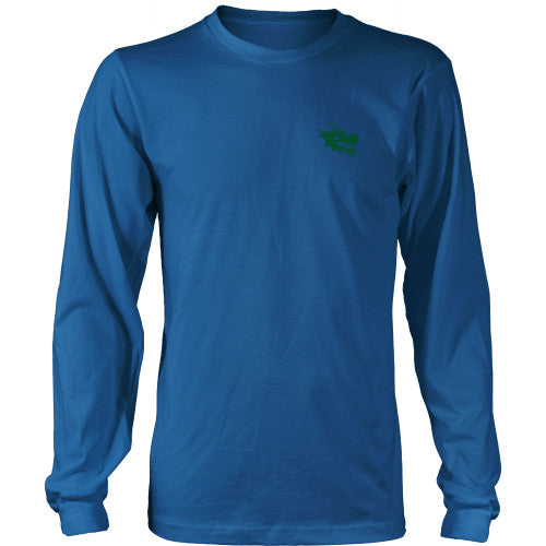 Mens Long Sleeve Dragon Shirt - Green Dragon Coffee  - 3