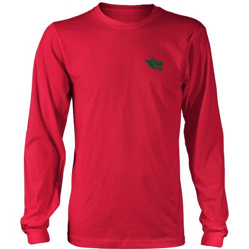 Mens Long Sleeve Dragon Shirt - Green Dragon Coffee  - 5