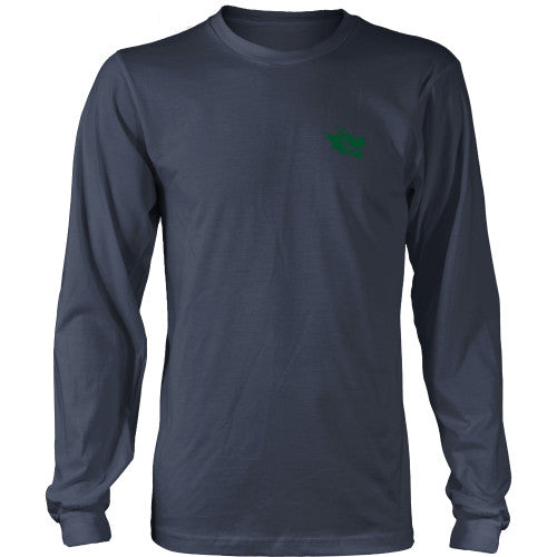 Mens Long Sleeve Dragon Shirt - Green Dragon Coffee  - 9