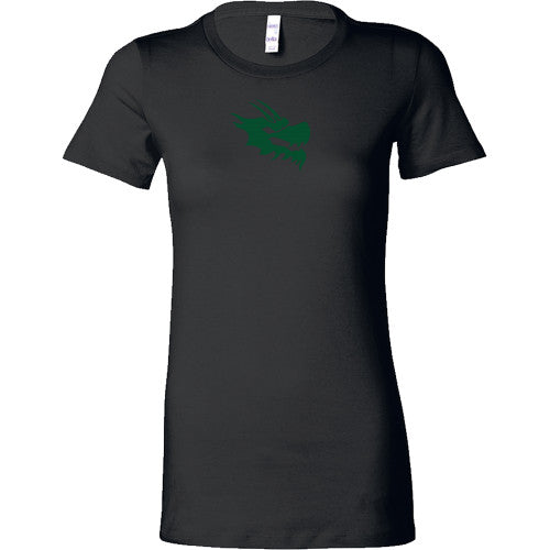 Womens Bella Dragon Head Shirt - Green Dragon Coffee  - 1