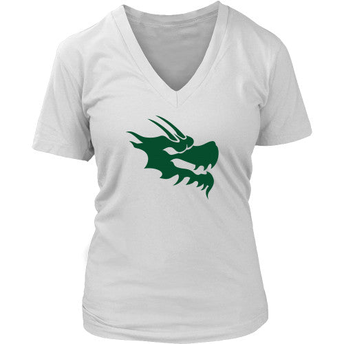 Womens V-Neck Shirt - Green Dragon Coffee  - 4