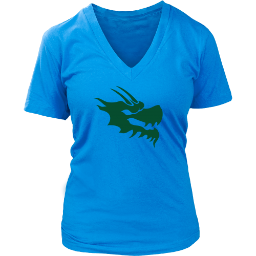 Womens V-Neck Shirt - Green Dragon Coffee  - 8