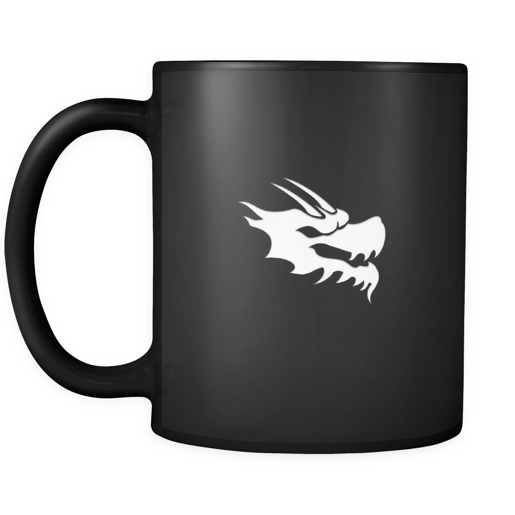 Black and White Coffee Mug - Green Dragon Coffee  - 2