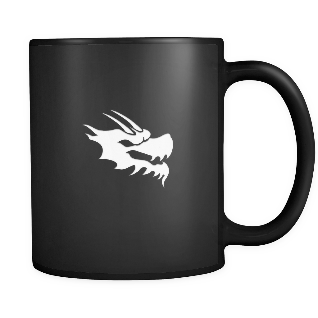 Black and White Coffee Mug - Green Dragon Coffee  - 1