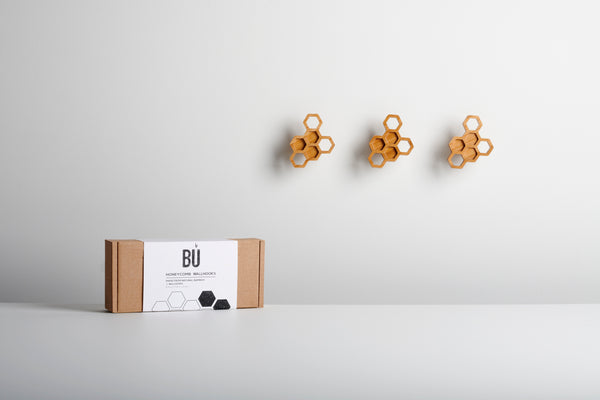 Honeycomb Wall Hooks (Set of 3)