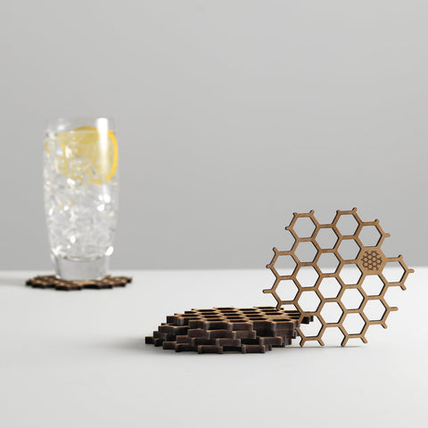 Bamboo Honeycomb Coasters