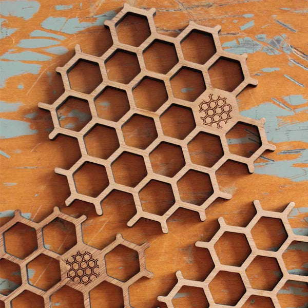 Bamboo Honeycomb Coasters (set of 6)