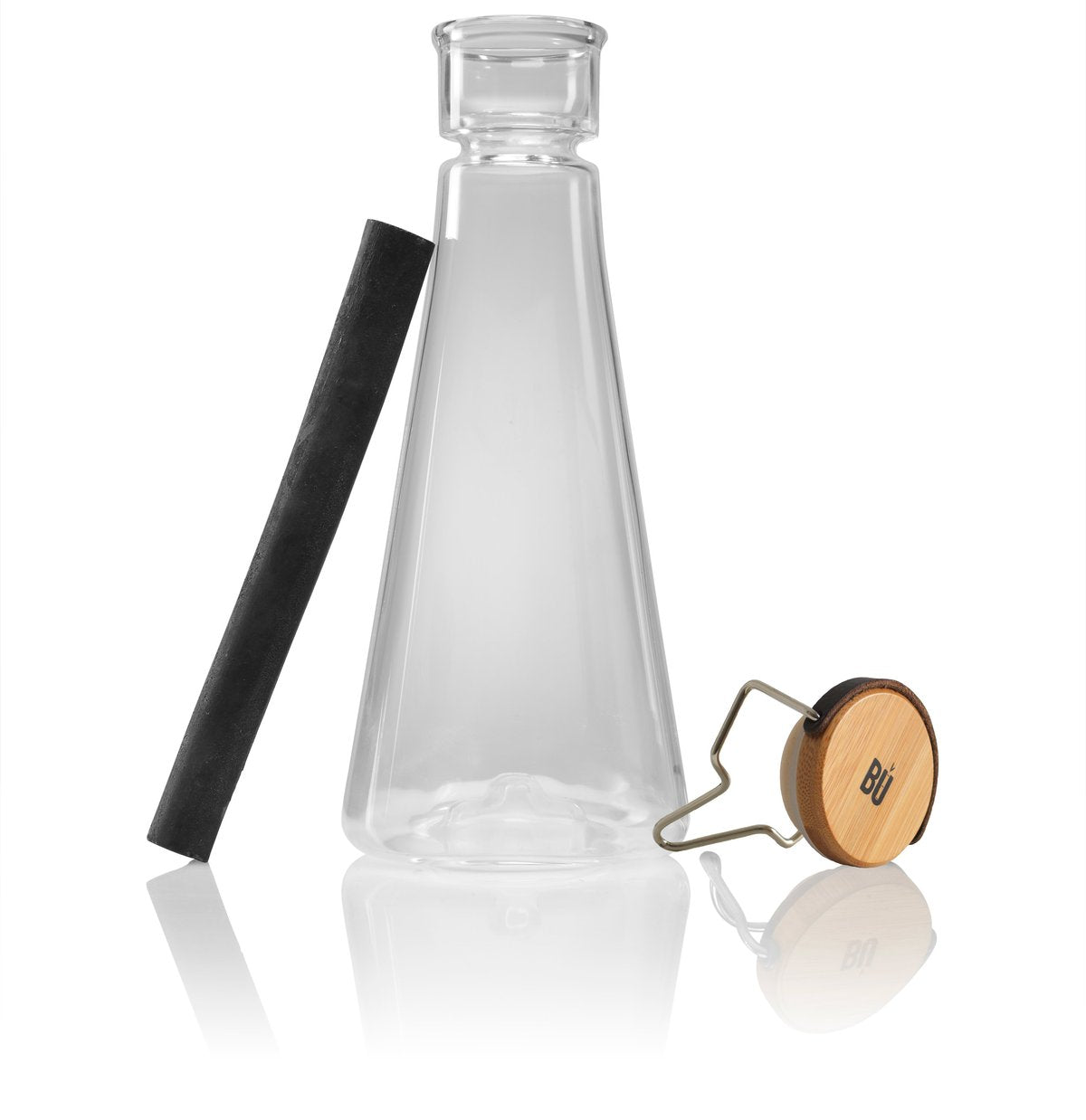 The bamboo filtered water bottle