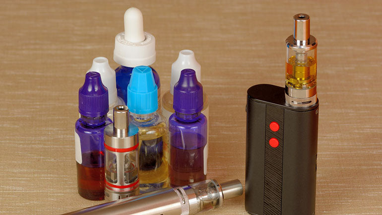 range of vape juice bottles