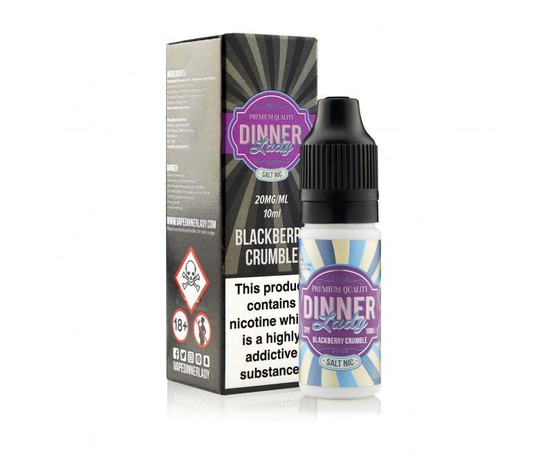 Dinner Lady Salts - Desserts - Blackberry Crumble 10ml - Vape Town
