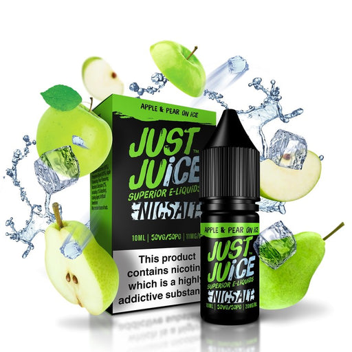 Just Juice Nic Salts - Apple & Pear on Ice 10ml. - Vape Town
