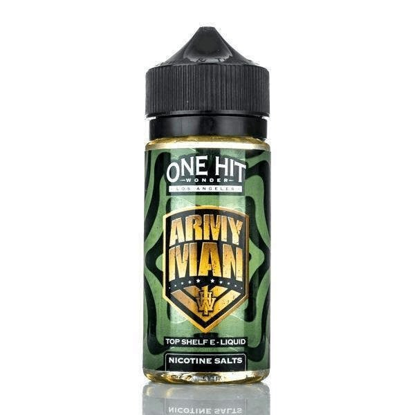 "One Hit Wonders ""Man"" Range - ARMY MAN - Key Lime & creamy milk - Vape Town"